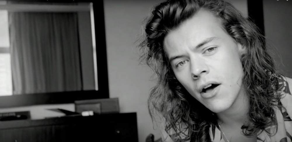 Harry Styles in One Direction's 'Perfect' music video.